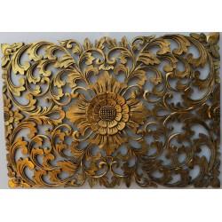 Pannello floreale in legno...