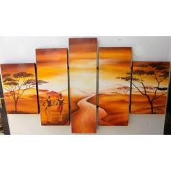 Quadro tramonto africano cm...