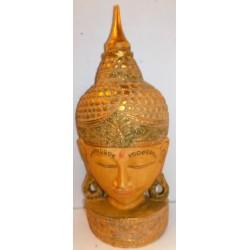 Testa di Buddha in legno...