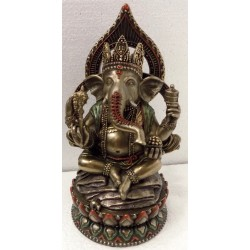 Statuetta Ganesh Dipinta a mano artigianale studio collection Veronese Design