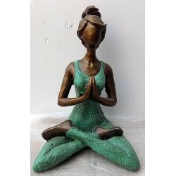 Donna Yoga in resina cm...