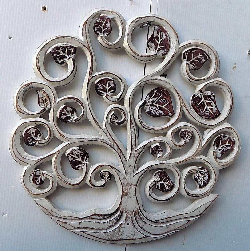 Pannello-albero-della-vita-legno-mdf-traforato-a-mano-diametro-cm-30-bianco-oro miniatura 10