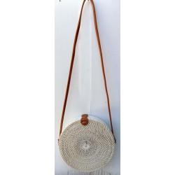 Borsa di rattan Bali bianca...