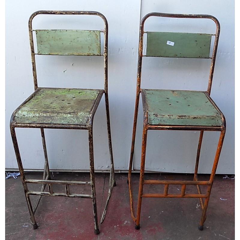 Sedie In Ferro Vintage.Sedia Sgabello Vintage In Ferro Metallo Anni 70 Cm 37x40x110 Bar