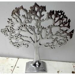Albero della vita in alluminio cm 30x7x33h decoro idea regalo