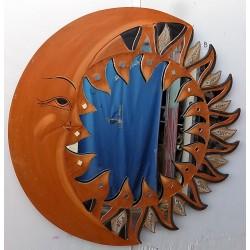 Specchio Sole Luna in legno...