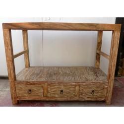 Mobile bagno in Teak massello piano in suar cm 100x50x78h industrial arredo