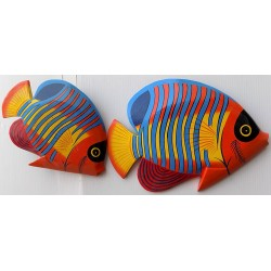 coppia di pesci in legno...