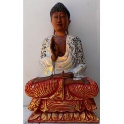 Statua di Buddha in legno...