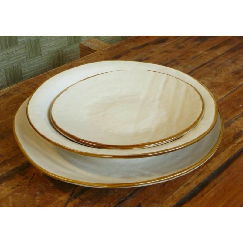 Servizio da 6 di Piatti Ceramica creati Mano linea mediterraneo novità home gres